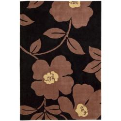 Nourison Hand-tufted Metropolitan Black/ Purple Rug (5' x 7'6)