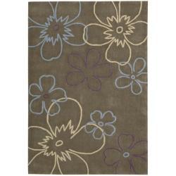 Nourison Hand-tufted Metropolitan Brown Rug (5' x 7'6)