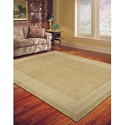 Nourison Westport Hand-tufted Sand Wool Rug (8' x 10'6)