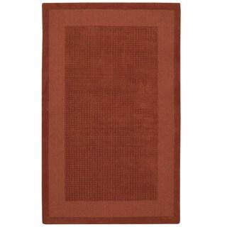 Nourison Westport Hand-tufted Spice Wool Rug (8' x 10'6)