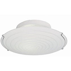 Contemporary 3-light 17-inch Semi Flush White Fluorescent Ceiling Light