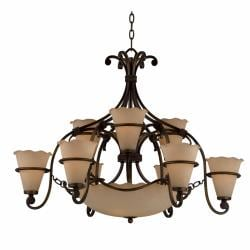 Coronado 12-light Harvest Bronze Chandelier
