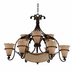 Coronado 12-light Harvest Bronze Chandelier