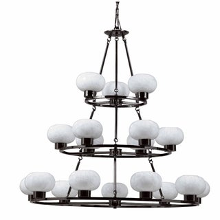 Atomique 18-light Gunmetal Chandelier