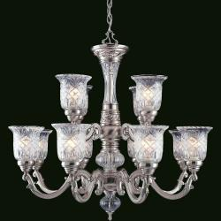 Regency 12-light Pewter-plated Chandelier