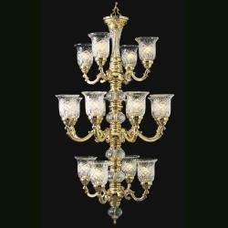 Regency 16-light 24K Goldplated Chandelier