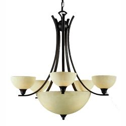 Luxor 8-light Brushed Steel Chandelier