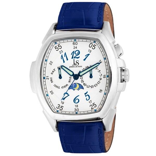 Joshua & Sons Men's Stainless Steel Strap Watch