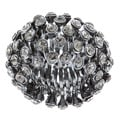 Celeste Gunmetal Black Crystal Honeycomb Stretch Fashion Ring