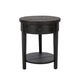 Safavieh Doris Black Round End Table