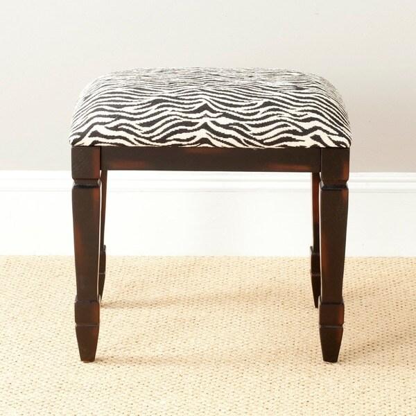 Safavieh Gertie Small Zebra-print Bench 7175426