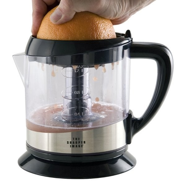 The Sharper Image 8144SI Electric Citrus Fruit Juicer