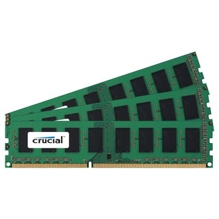 Crucial 6GB Kit (2GBx3), 240-pin DIMM, DDR3 PC3-8500 Memory Module