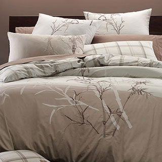 Embroidered Bamboo 3 Piece Duvet Cover Set 13070321