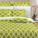 Green Scroll 3-piece Duvet Cover Set