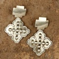 Sterling Silver Large Cross Earrings (Native American)