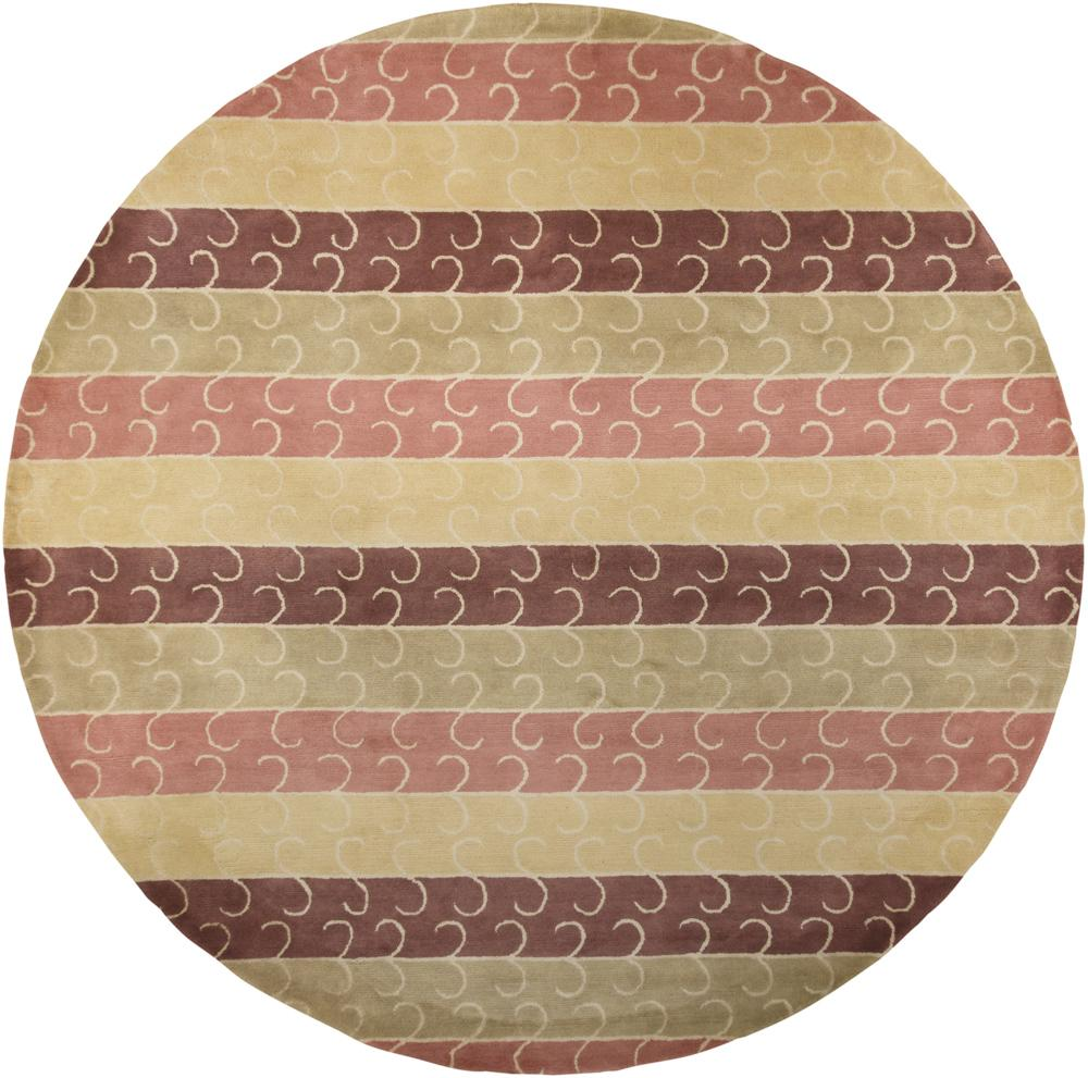 "Hand-Tufted Mandara Multi New Zealand Wool Area Rug (7'9"" Round)"