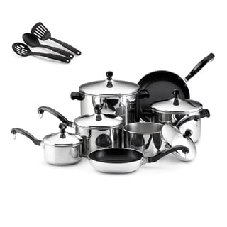 Farberware Classic Stainless Steel 15-Piece Cookware Set *with $20 Rebate*