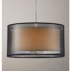 Simple Elegance 3-light Chrome Pendant and Ceiling Mount Chandelier