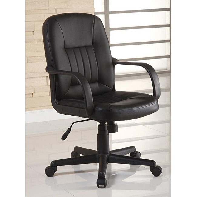 Ergonomic Black Leather Executive Office Chair 13072844 Overstock