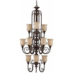 Mademoiselle 12-light Tortoise Shell Chandelier