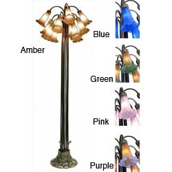 Tiffany-style Lily Bronze/ Amber Floor Lamp