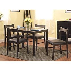 Wesley 5-piece Black Dining Set