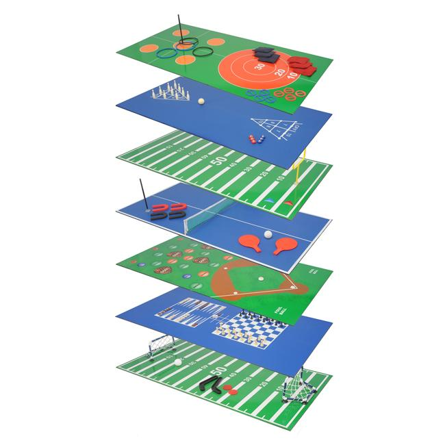 Voit Plus Set of 16 Tabletop Games with Reversible MDF Game Boards