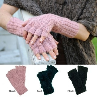 Jordan Fingerless Wool Gloves (Nepal)