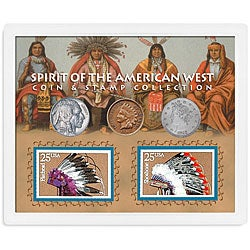 American Coin Treasures Spirit of the American West Coin and Stamp Collection