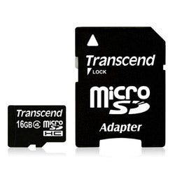 Transcend 16GB MicroSD Class 4 Flash Memory Card