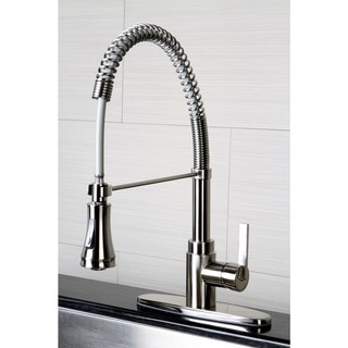 Continental Modern Spiral Satin Nickel Kitchen Faucet