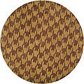 Hand-tufted Retro Chic Brown Abstract Rug (8' Round)