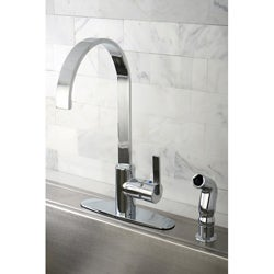 Continental Modern Chrome Centerset Kitchen Faucet