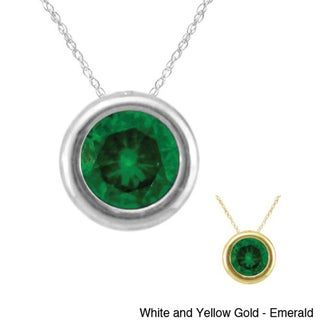 10k Gold Birthstone Bezel-set Designer Necklace