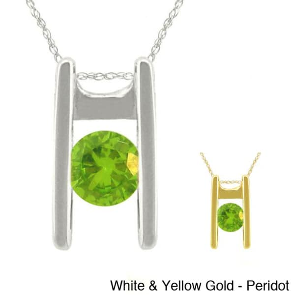 10k Gold Birthstone Ladder Necklace