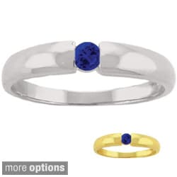 10k Gold Birthstone Solitaire Ring