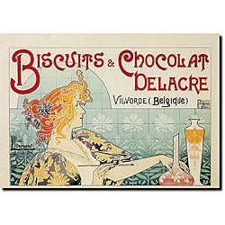 Privat Livemont 'Biscuits & Chocolate Delacre' Canvas Art