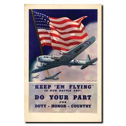 'Keep'em Flying-Gallery' Canvas Art