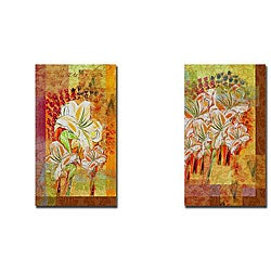 Miguel Paredes 'Watercolor II & III' 2-piece Canvas Art Set