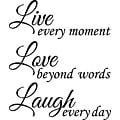'Live Love Laugh' Vinyl Wall Art Quote