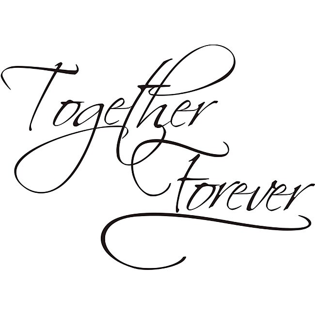 design on style together forever vinyl wall art quote