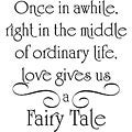 Design on Style 'Love Gives Us a Fairy Tale' Vinyl Wall Art Quote