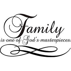 Design on Style 'Family is One of God's Masterpieces' Vinyl Wall Art Quote