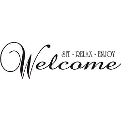 Design on Style 'Welcome, Sit, Relax, Enjoy' Vinyl Wall Art Quote