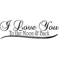 'I Love You to the Moon and Back' Vinyl Wall Art