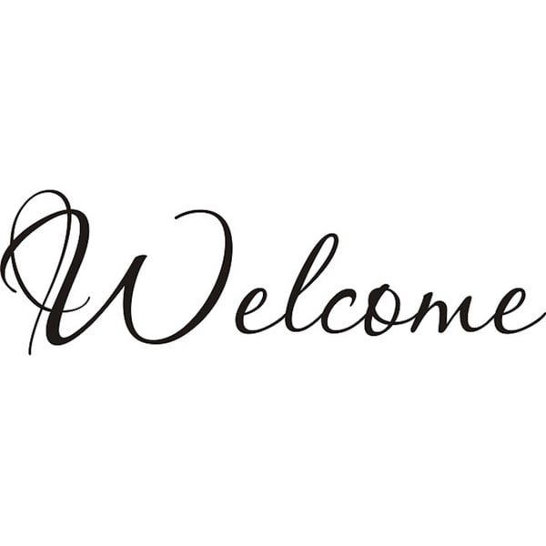 design on style  u0026 39 welcome u0026 39  vinyl wall art quote - 13076910 - overstock com shopping