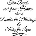 'Two Angels Sent From Heaven Above' Vinyl Wall Art