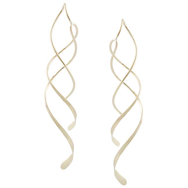 Goldfill Spiral Dangle Earrings