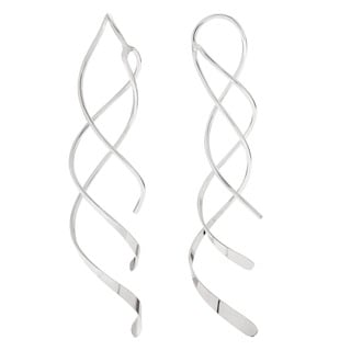 Tressa Sterling Silver Spiral Dangle Earrings